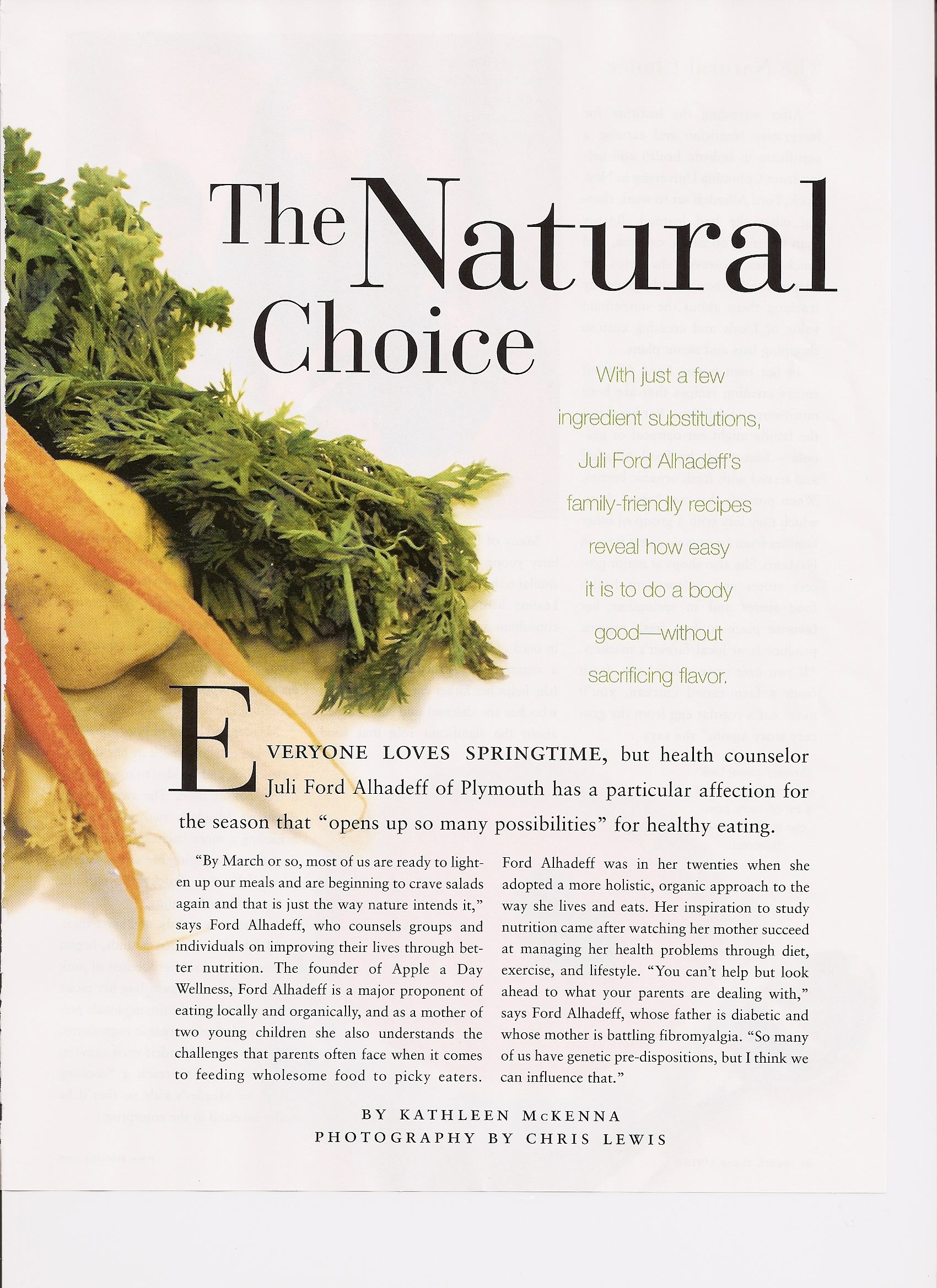South Shore Living Magazine Article March 2009